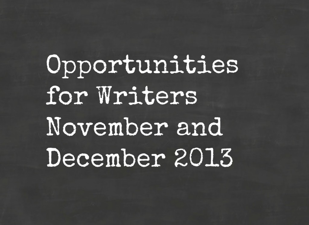Opportunities for writers